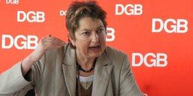 Annelie Buntenbach, Mitglied des geschäftsführenden DGB-Bundesvorstands