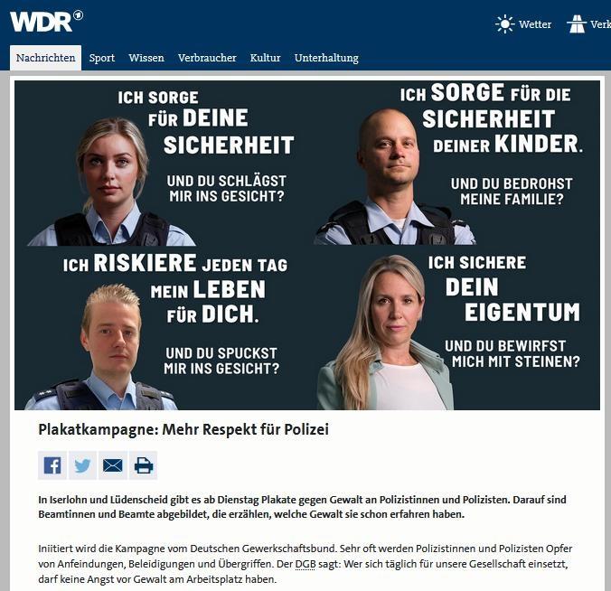 Bericht des WDR
