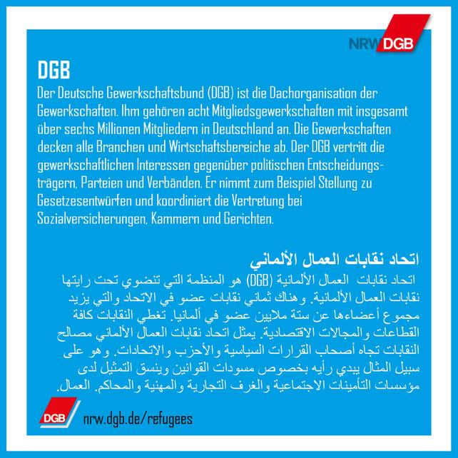 Die Gewerkschaften in versch. Sprachen