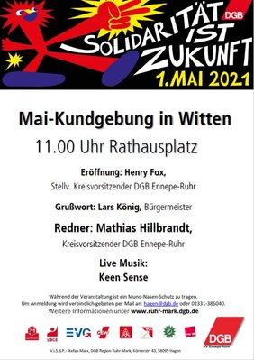 Plakat 1. Mai