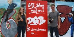 Teaser Sprayaktion München für Rente mit 63