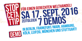 Bannergrafik TTIP CETA Demo